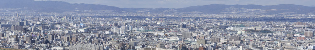 Panorama view of Osaka bay. From the surrounding mountains Royalty Free Stock Image
