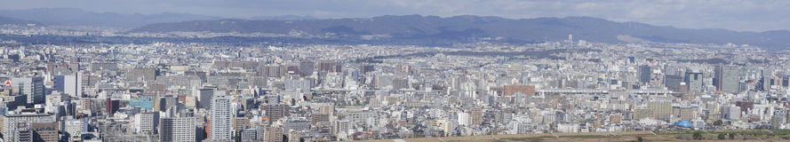 Panorama view of Osaka bay. From the surrounding mountains Royalty Free Stock Photography