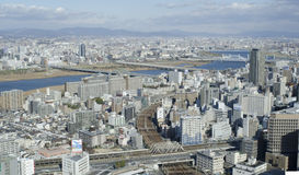 Panorama view of Osaka bay Royalty Free Stock Photos