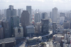 Panorama view of Osaka City Stock Photos