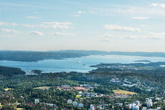 Panorama view of Oslo royalty free stock photo