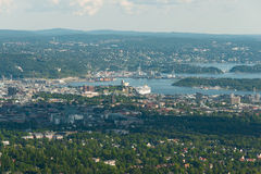 Panorama view of Oslo royalty free stock images