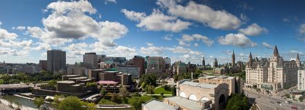 Panorama view of Ottawa skyline, Canada Royalty Free Stock Image