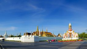 Panorama view outside of Wat Phra Kaew Stock Photos