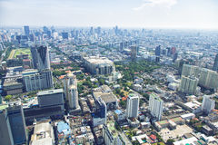 Panorama view over Bangkok Stock Photography