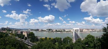 Panorama view over Budapest stock images