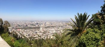 Panorama view over Santiago de Chile Royalty Free Stock Images