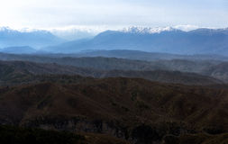 Panorama view. PAnoramic view of mountains in Eripus Greece Stock Image