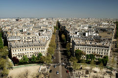 Panorama View of Paris Royalty Free Stock Photography