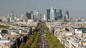 Panorama View of Paris Stock Photos