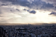 Panorama View of Paris. ,France Royalty Free Stock Photo