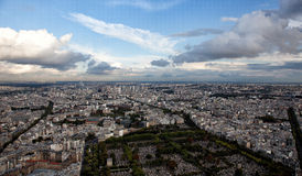 Panorama View of Paris Royalty Free Stock Photos