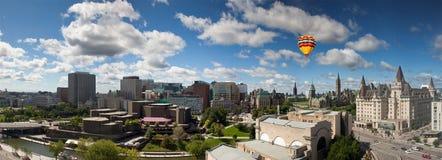 Panorama view of Ottawa skyline, Canada stock photo