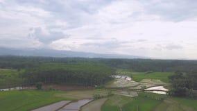 Panorama view of Pekalongan City. Natural Panorama view of Pekalongan City central java Indonesia taken from drone stock video