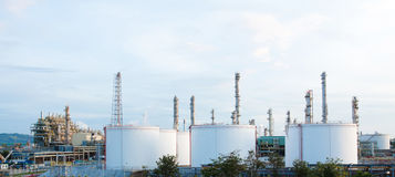 Panorama view of the petrochemical plants Stock Photo