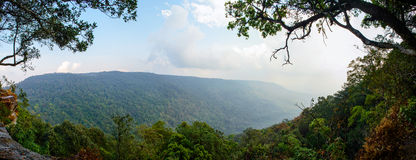 Panorama View Pha Deaw Dai Cliffs. Stock Images