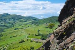 Panorama view from Pietra Parcellara, Val Trebbia, Piacenza, Ita Royalty Free Stock Images