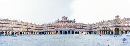 Panorama view of Plaza Mayor in Salamanca, Castilla y Leon, Spai Royalty Free Stock Photography