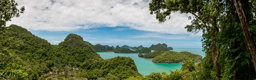 Panorama View point of Ang Thong Islands national park Royalty Free Stock Image