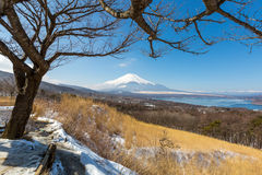 Panorama view point Fujisan Yamanaka Lake Royalty Free Stock Photography