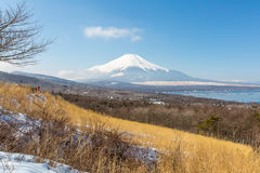 Panorama view point Fujisan Yamanaka Lake Royalty Free Stock Photos