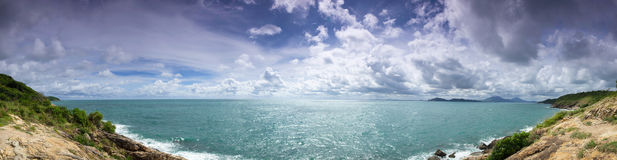 Panorama View Point On Island. Royalty Free Stock Images