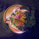 360 Panorama View point of Tha Maharaj Shopping mall in night time Royalty Free Stock Images