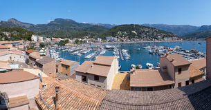 Panorama View of Port de Soller in Mallorca, Spain Stock Images