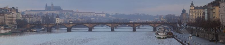 Panorama view of the Prague Royalty Free Stock Photography