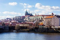 Panorama view of Prague Castle, Czech Republic Royalty Free Stock Photography