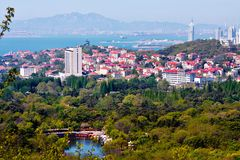 The panorama view of Qingdao city of Shandong province Stock Photo
