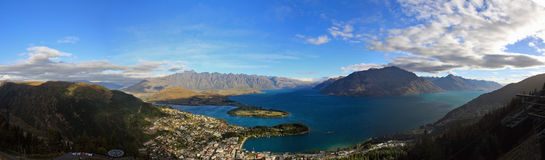 The panorama view of Queenstown Stock Image