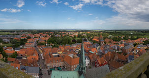 Panorama view of Ribe, Denmark Royalty Free Stock Image