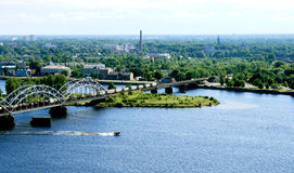 Panorama view of Riga Stock Photos
