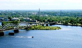 Panorama view of Riga Stock Photos