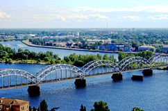 Panorama view of Riga Stock Image