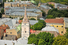 The panorama view of Riga Royalty Free Stock Photo
