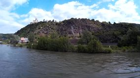 Panorama View of the River Rhine stock footage