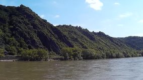 Panorama View of the River Rhine stock video