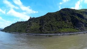 Panorama View of the River Rhine stock video footage