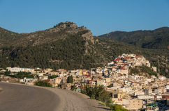 Panorama view from road over the holy city of Moulay Idriss Zerh Royalty Free Stock Photos