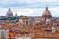 Panorama view of Rome roofs Royalty Free Stock Photo