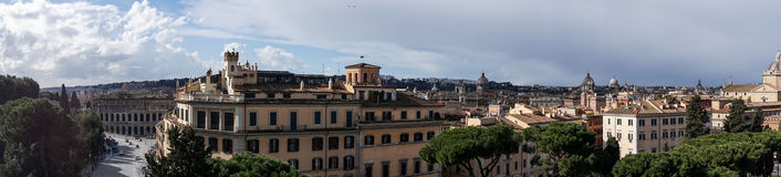 Panorama view of Rome Stock Image