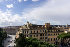 Panorama view of Rome Royalty Free Stock Photo