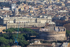 Panorama view of Rome from Saint Peter Cathedrale Stock Image