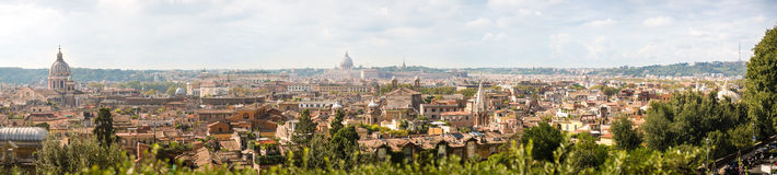 Panorama view of Rome Stock Images