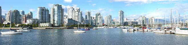 Panorama view of S.Vancouver BC. Stock Image