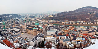 Panorama view of Salzburg, Austria Royalty Free Stock Images
