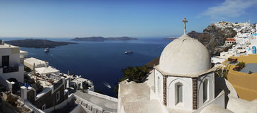 Panorama view, Santorini Stock Images