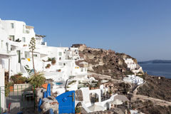Panorama view of Santorini caldera, Aegean sea Royalty Free Stock Image
